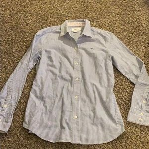 Blue white VINEYARD VINES Button down shirt size 2